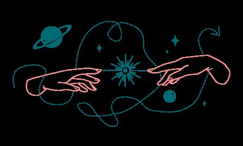 Stratégie Communication : 2 mains créant une étoile