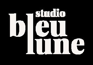 Logo du Studio Bleu Lune Blanc Cassé