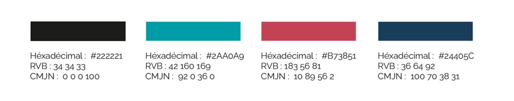 Une palette de couleurs pour l'identité visuelle de l'ASBL d'édition LIVRONS NOUS